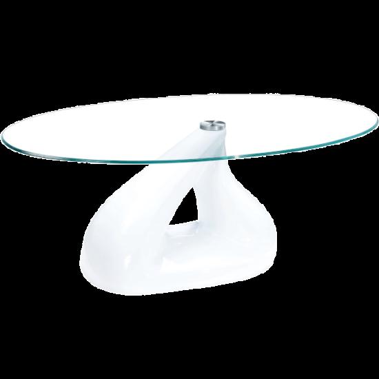 Üveg dohányzóasztal 110x41x60 cm