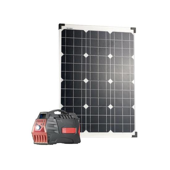 HSG-800 50W Napelem powerbank és inverter 80 Ah, 500 W-ig
