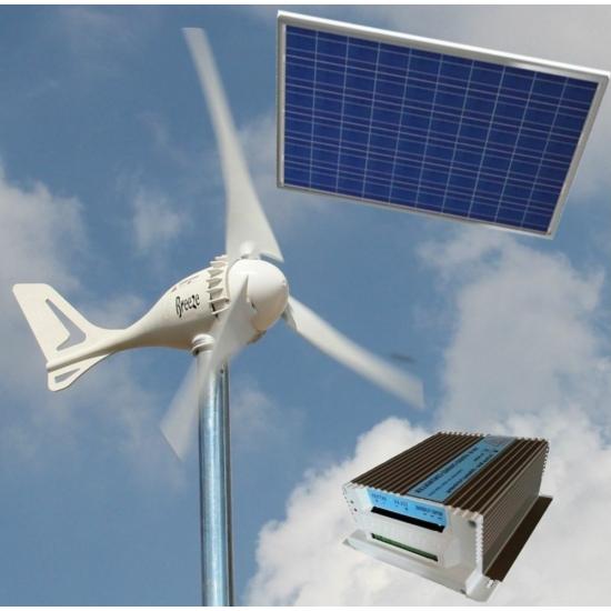 Szélkerék 12V 500W 103 cm + napelem 12V 150W + 12V hybrid töltésvezérlő mindkettőhöz. Szél- és napenergia készlet. 103 cm rotorátmérő